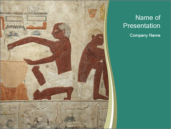 Egypt Wall Drawing PowerPoint Template - Slide 1