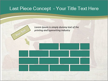 Egypt Wall Drawing PowerPoint Template - Slide 46