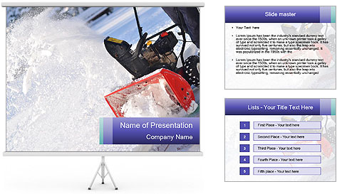Snow Blowing Machine PowerPoint Template