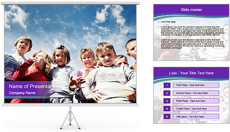 Kids Outdoors PowerPoint Template