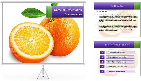 Orange Slice PowerPoint Template
