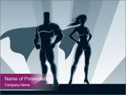 Superhero Woman And Man PowerPoint Templates