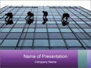 Men Cleaning Building Facade PowerPoint Templates