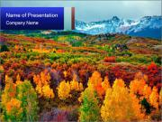 Forest During Autumn Season PowerPoint Templates