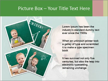 Schoolboy With Fresh Idea PowerPoint Template - Slide 23