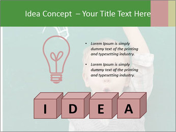 Schoolboy With Fresh Idea PowerPoint Template - Slide 80