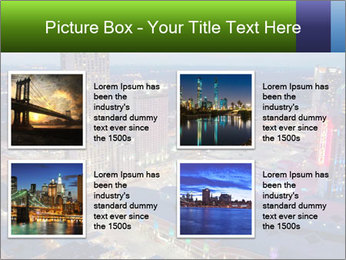 American City At Night PowerPoint Template - Slide 14