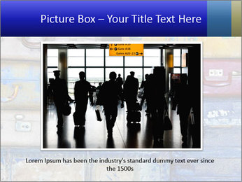 Man With Vintage Travel Bags PowerPoint Template - Slide 16