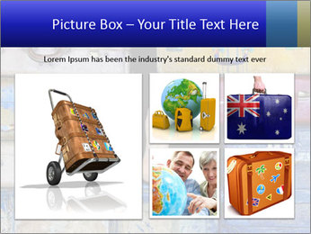Man With Vintage Travel Bags PowerPoint Template - Slide 19