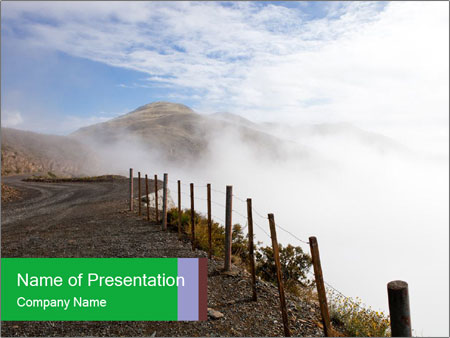 Gravel Road PowerPoint Template