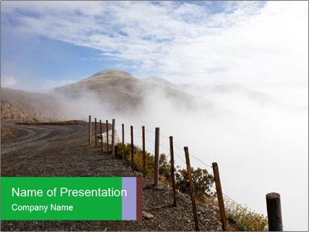 Gravel Road PowerPoint Templates