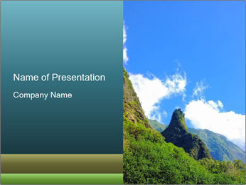 Pure Natural Landscape PowerPoint Template - Slide 1