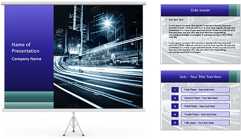 Night Metropolitan PowerPoint Template