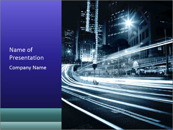 Night Metropolitan PowerPoint Template - Slide 1