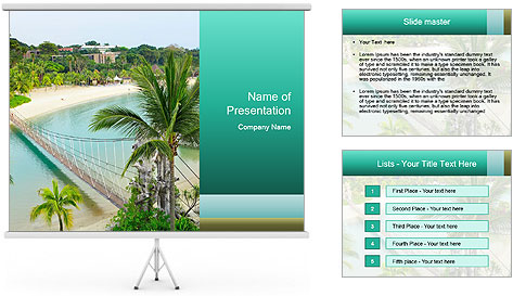 Baunti Beach Scene PowerPoint Template