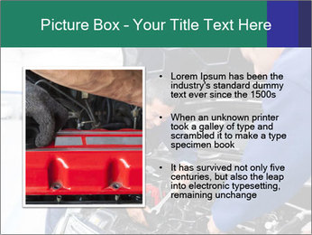Men Fixing Vehicle PowerPoint Templates - Slide 13