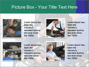 Men Fixing Vehicle PowerPoint Templates - Slide 14