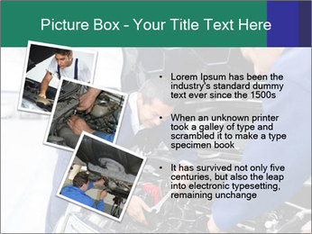 Men Fixing Vehicle PowerPoint Templates - Slide 17