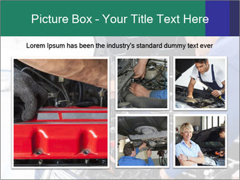 Men Fixing Vehicle PowerPoint Templates - Slide 19