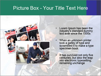 Men Fixing Vehicle PowerPoint Templates - Slide 20