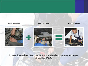 Men Fixing Vehicle PowerPoint Templates - Slide 22