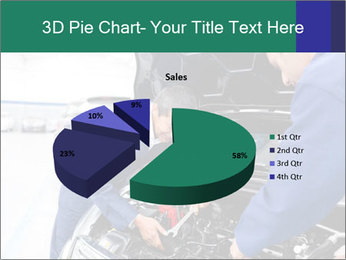 Men Fixing Vehicle PowerPoint Templates - Slide 35