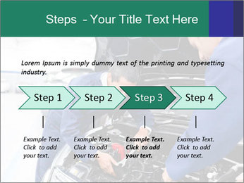 Men Fixing Vehicle PowerPoint Templates - Slide 4