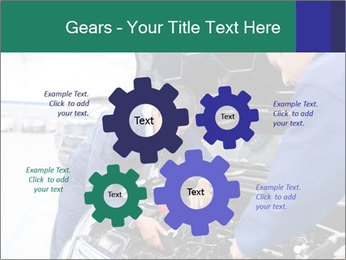 Men Fixing Vehicle PowerPoint Templates - Slide 47