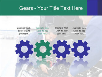 Men Fixing Vehicle PowerPoint Templates - Slide 48