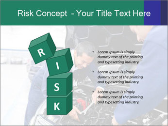 Men Fixing Vehicle PowerPoint Templates - Slide 81