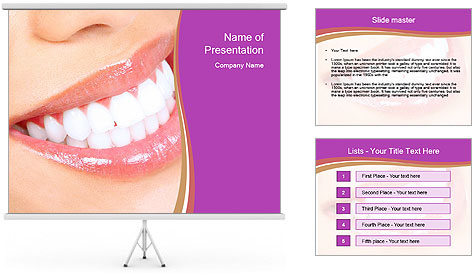 Teeth After Whitening PowerPoint Template