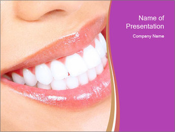 Teeth After Whitening PowerPoint Template - Slide 1