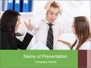 Stressed Manager PowerPoint Template