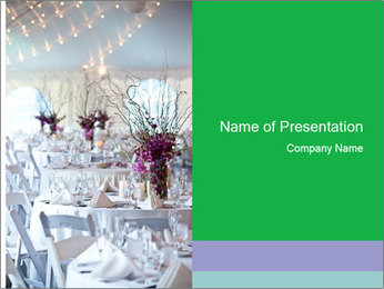Bridal Catering PowerPoint Templates - Slide 1