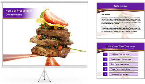 Gourmet Meat PowerPoint Template