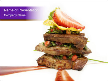 Gourmet Meat PowerPoint Template - Slide 1