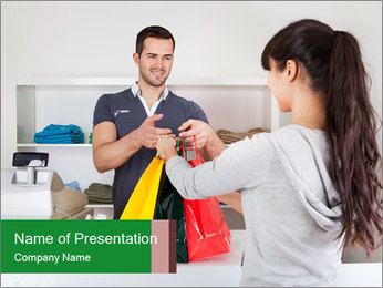 Shopper Family PowerPoint Template - Slide 1