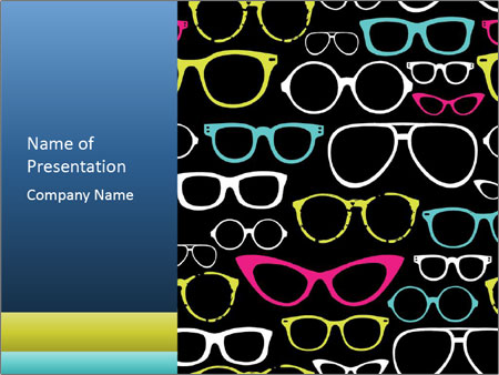 Colorful Sunglasses PowerPoint Templates