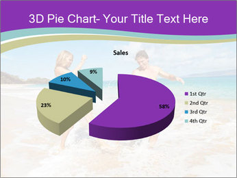 Couple Playing In Water PowerPoint Template - Slide 35