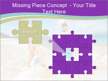 Couple Playing In Water PowerPoint Template - Slide 45