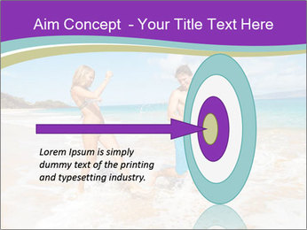 Couple Playing In Water PowerPoint Template - Slide 83