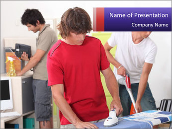 Young Housemates PowerPoint Template