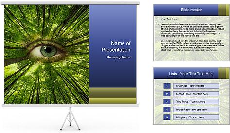 Earth Eye PowerPoint Template