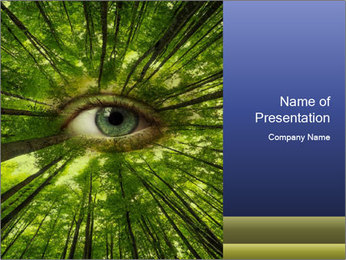 Earth Eye PowerPoint Template