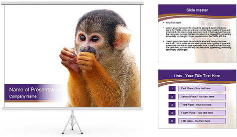 African Monkey PowerPoint Template