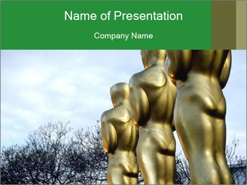 Oscar Academy Awards PowerPoint Templates - Slide 1