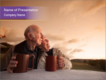 Elderly Couple PowerPoint Templates - Slide 1