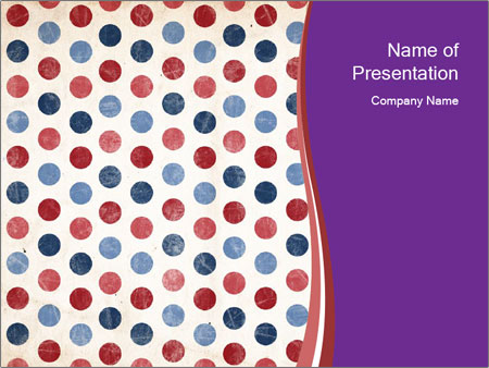 USA Fabric Print PowerPoint Templates