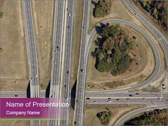 Aerial View Of Highway PowerPoint Templates - Slide 1