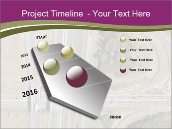 Aerial View Of Highway PowerPoint Templates - Slide 26